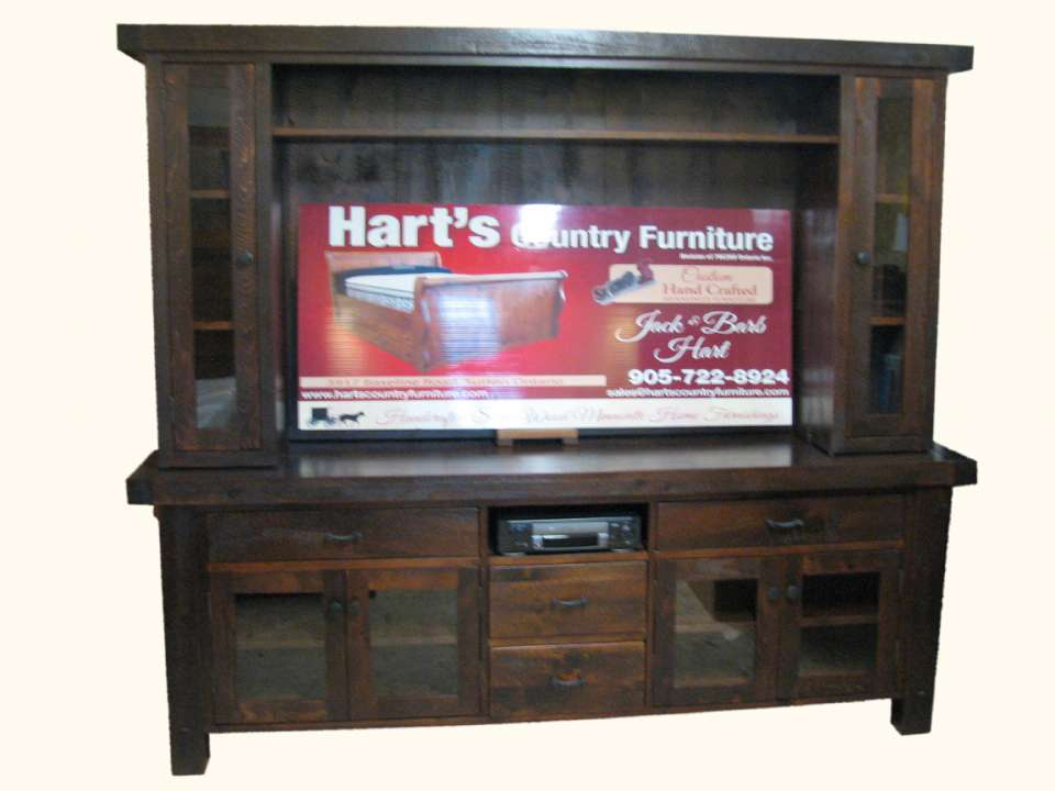 Mennonite Rustic Pine Yukon 2 Piece Entertainment Centre