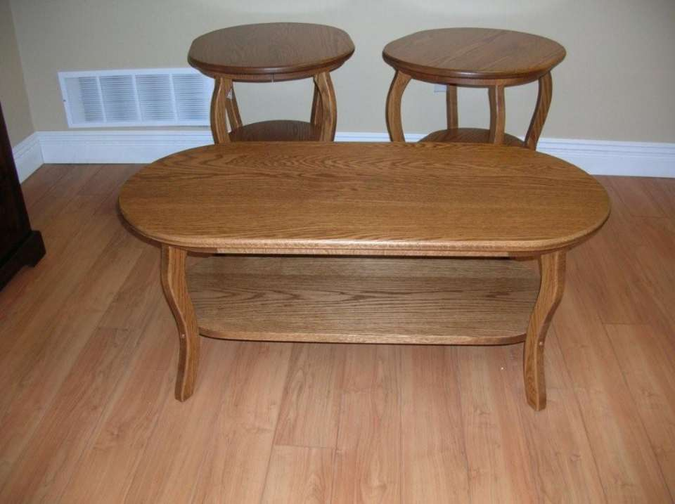 Solid Oak Oval Coffee & End Tables