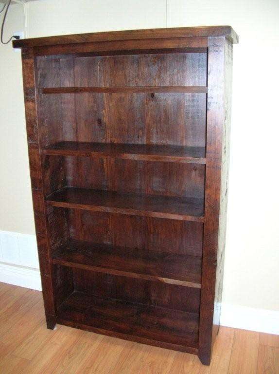 Pine Rough Sawn Bookshelf Unit