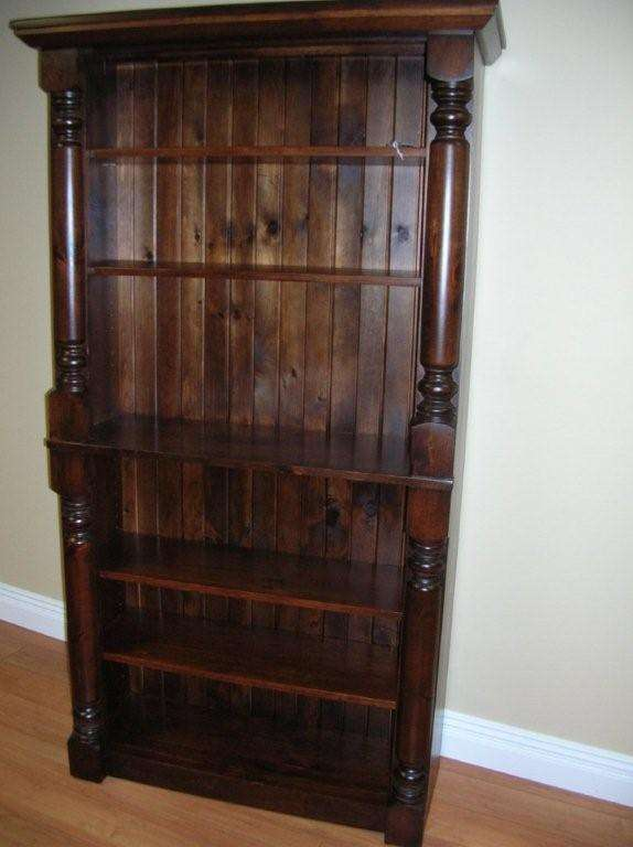 Rustic Pine Beveled Top Bookcase