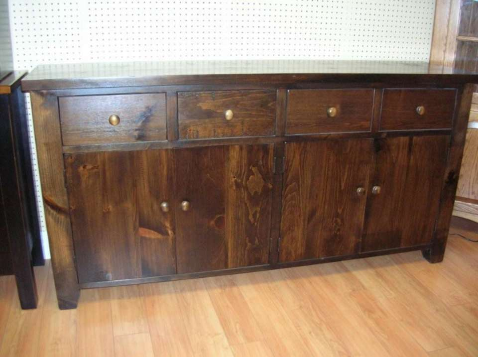 Pine Rough Sawn 4 Door Sideboard