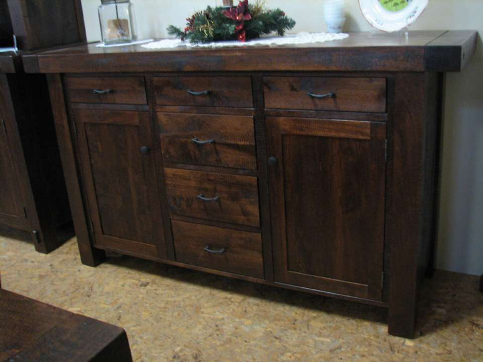 W. Maple Hart-Yukon Custom 5 Drawer Sideboard