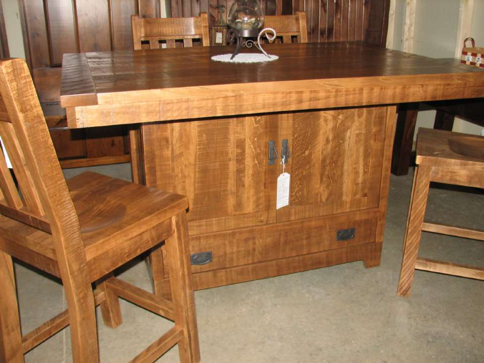 Wormy Maple Century Mill Sawn Seating Island